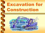 Excavation for Construction