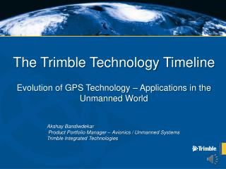The Trimble Technology Timeline