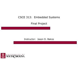 CSCE 313:  Embedded Systems Final Project