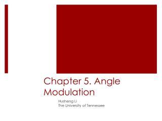 Chapter 5. Angle Modulation