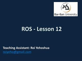 ROS - Lesson 12