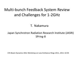 Multi-bunch Feedback System Review  and Challenges for 1-2GHz