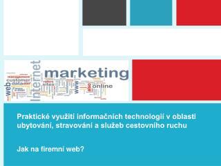 Jak na firemní web?
