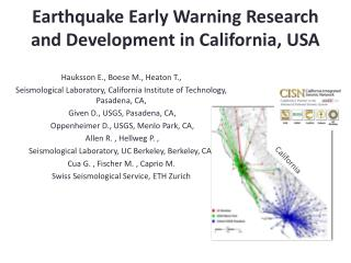Earthquake Early Warning Research and Development in California, USA