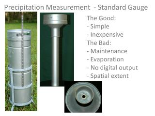 Precipitation  Measurement  - Standard Gauge