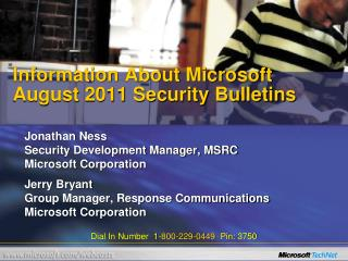 Information About Microsoft August 2011 Security Bulletins