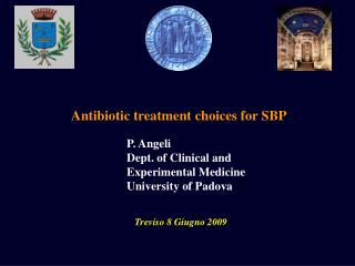 Antibiotic treatment choices for SBP