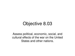Objective 8.03