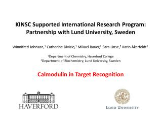 KINSC Supported International Research Program: Partnership with Lund University, Sweden