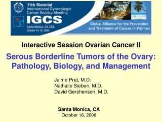 Interactive Session Ovarian Cancer II