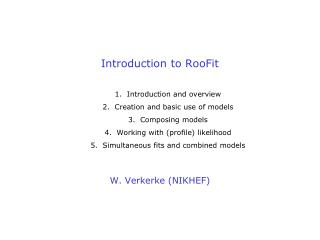 Introduction to RooFit