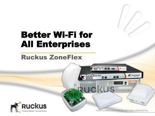 Better Wi-Fi for  All Enterprises