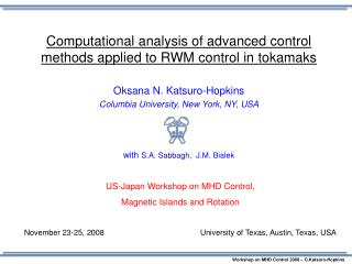 Computational analysis of advanced control methods applied to RWM  control  in  tokamaks