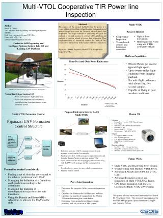 Multi-VTOL Cooperative TIR Power line Inspection