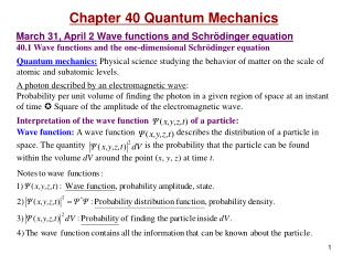 Chapter  40 Quantum Mechanics