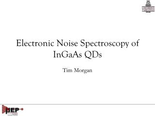 Electronic Noise Spectroscopy of  InGaAs  QDs