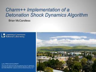Charm++ Implementation of a Detonation Shock Dynamics Algorithm