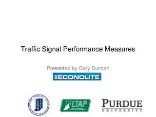 Traffic Signal Performance Measures