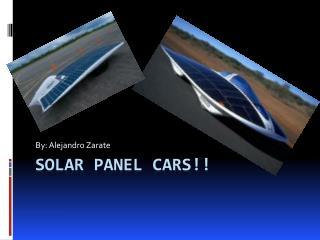 Solar panel cars!!