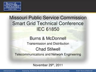 Missouri Public Service Commission Smart Grid Technical Conference IEC 61850