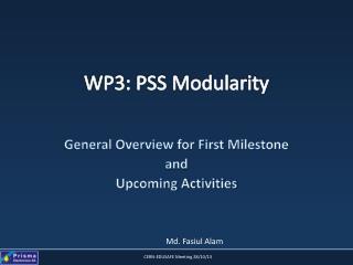 WP3: PSS Modularity