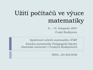 U it  poc tacu ve v uce matematiky