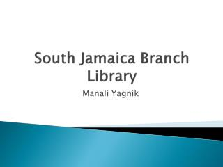 South Jamaica Branch Library
