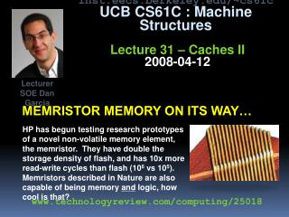 Memristor memory on its way�