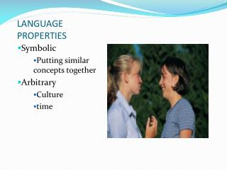 LANGUAGE PROPERTIES