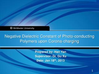 Negative Dielectric Constant of Photo-conducting Polymers upon Corona-charging