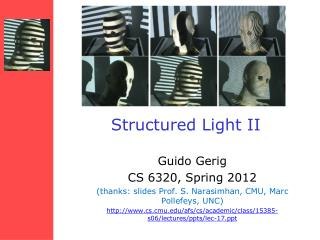 Structured Light II
