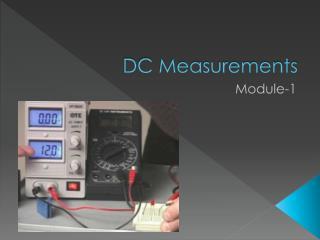 DC Measurements