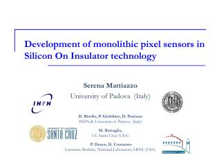 Development of monolithic pixel sensors in Silicon On Insulator technology