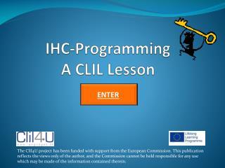 IHC-Programming A CLIL Lesson