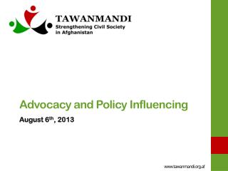 Advocacy and  Policy Influencing