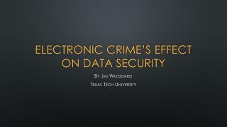 Electronic crime's effect on data security