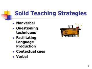 Solid Teaching Strategies