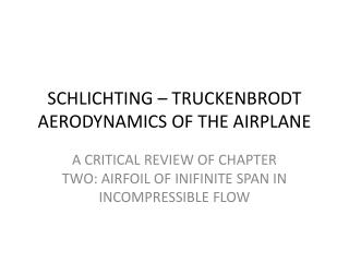 SCHLICHTING – TRUCKENBRODT AERODYNAMICS OF THE AIRPLANE