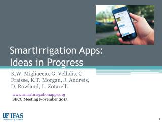 SmartIrrigation  Apps:  Ideas in Progress