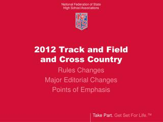 2012 Track and Field  and Cross Country