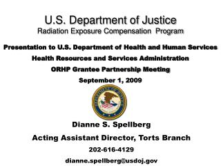 U.S. Department of Justice Radiation Exposure Compensation  Program
