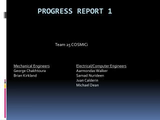 Progress Report 1