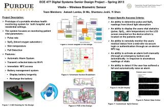 ECE 477 Digital Systems Senior Design Project   Spring 2013 Vitalis  – Wireless Biometric Sensor
