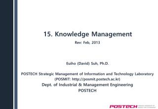 15. Knowledge Management