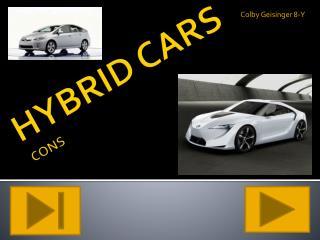 HYBRID CARS CONS
