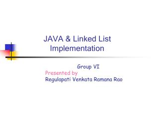 JAVA & Linked List    Implementation