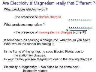 Are Electricity & Magnetism really that Different ?