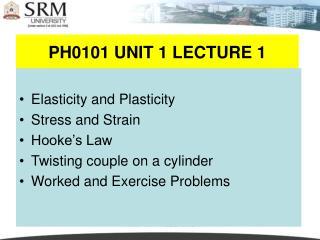 PH0101 UNIT 1 LECTURE 1