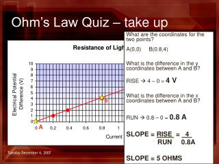 Ohm's Law Quiz – take up