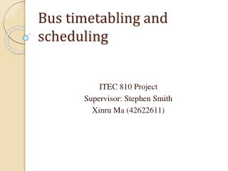 Bus timetabling and scheduling